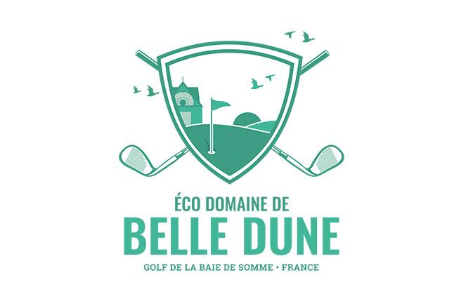 logo golf de belle dune - pour medecins de l'imaginaire