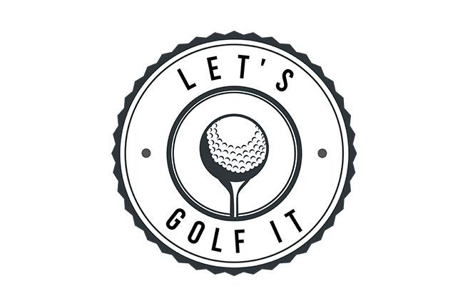 logo lets golf it - pour medecins de l'imaginaire