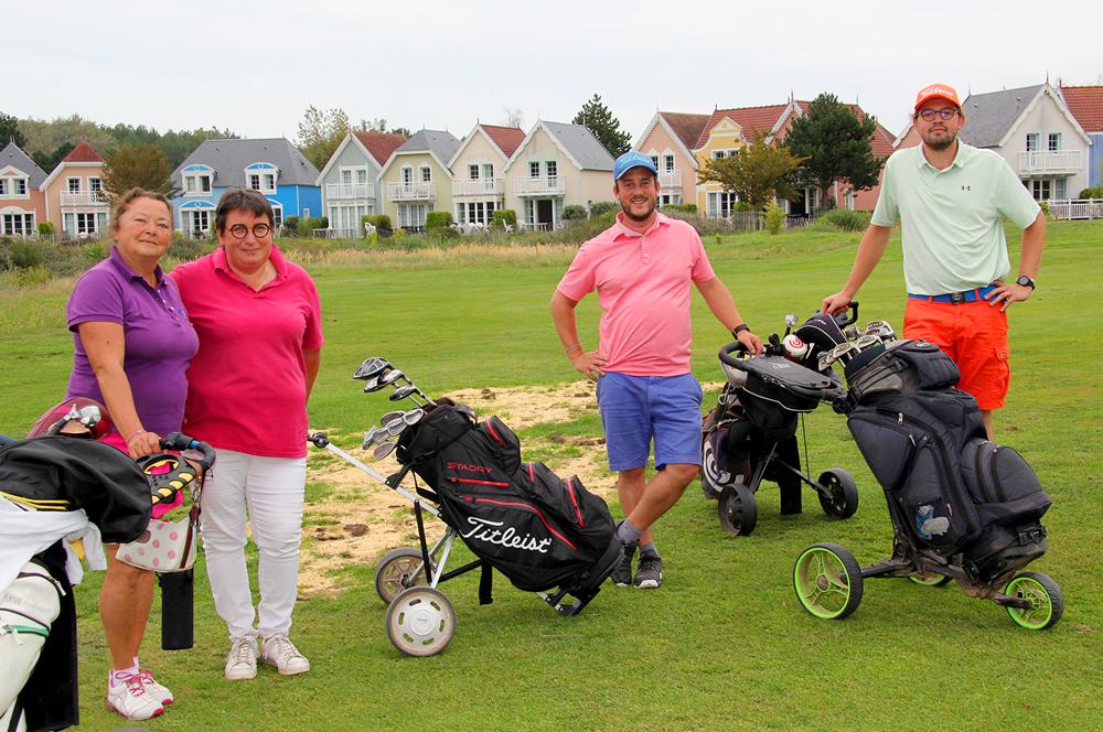 trophee art-en-ciel - participants sur le golf de belle dune